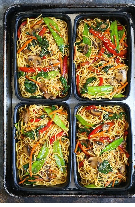 Lo Mein Meal Prep