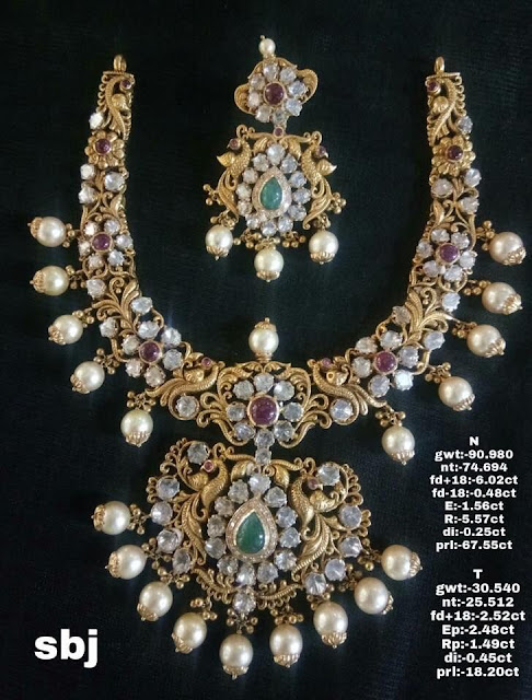 Pachi Necklace with Earrings 90 Grams