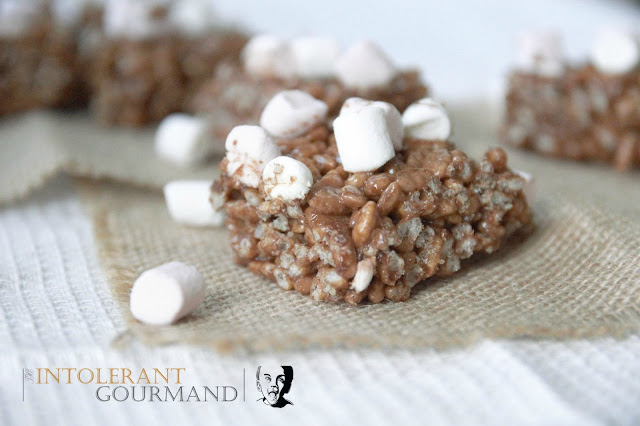 Ideas to use up left over Easter chocolate, Chocolate Marshmallow Crispie Squares