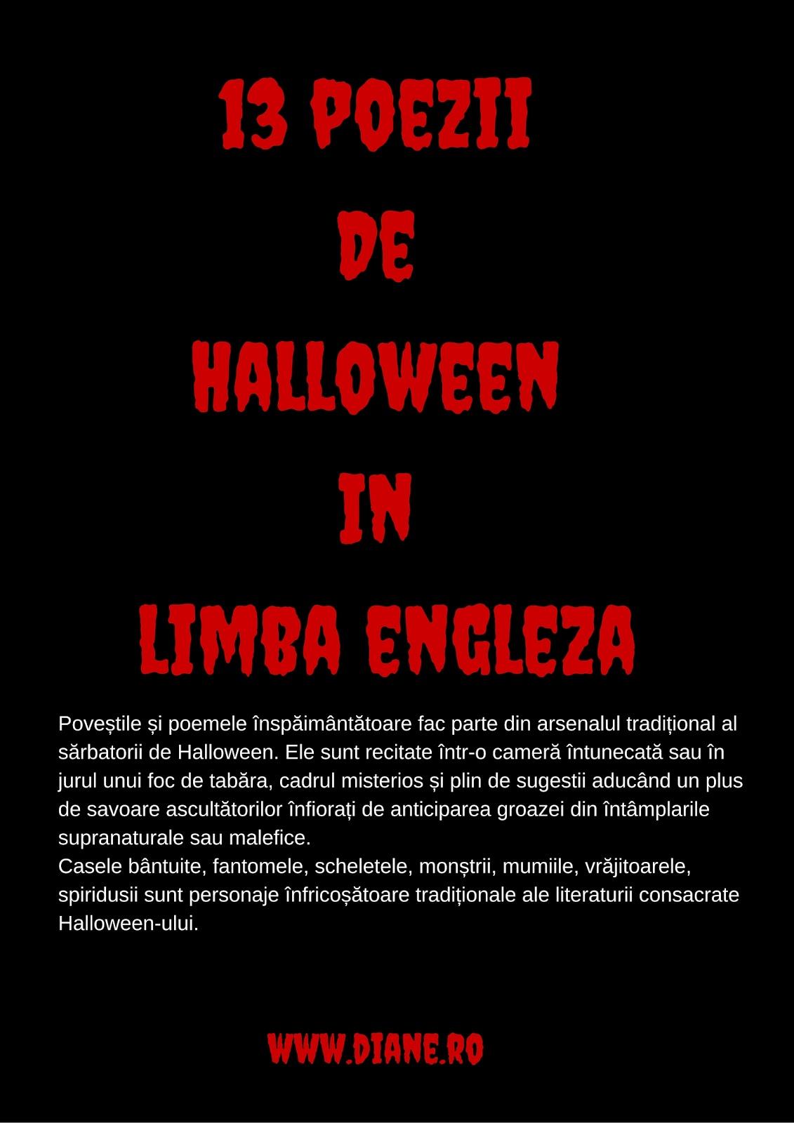 Am Facut N Cele Ce Urmeaz O Selecie Eclectica A Unor Poezii De Halloween Doar Pentru V Da Idee Despre Diversitatea Acestora