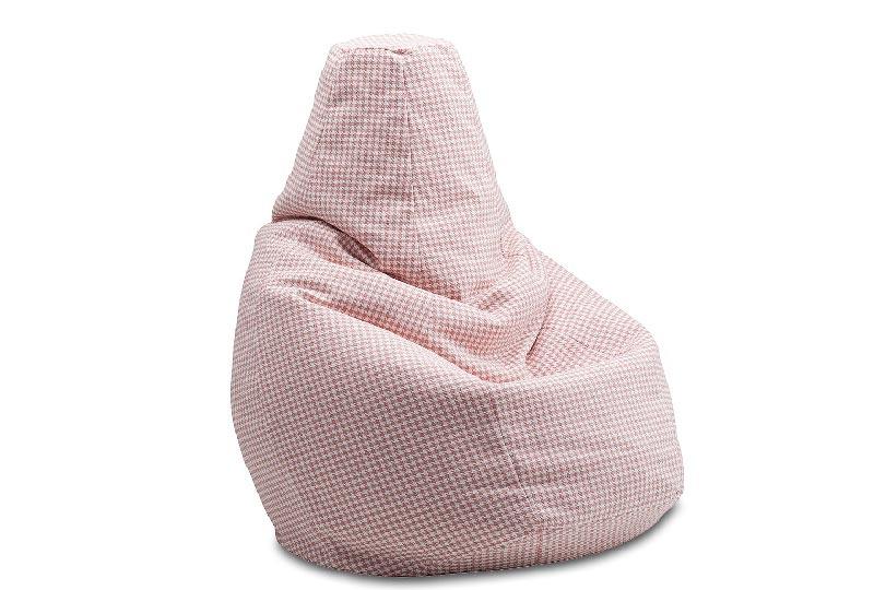 poltrona sacco pied de poule rosa by Zanotta