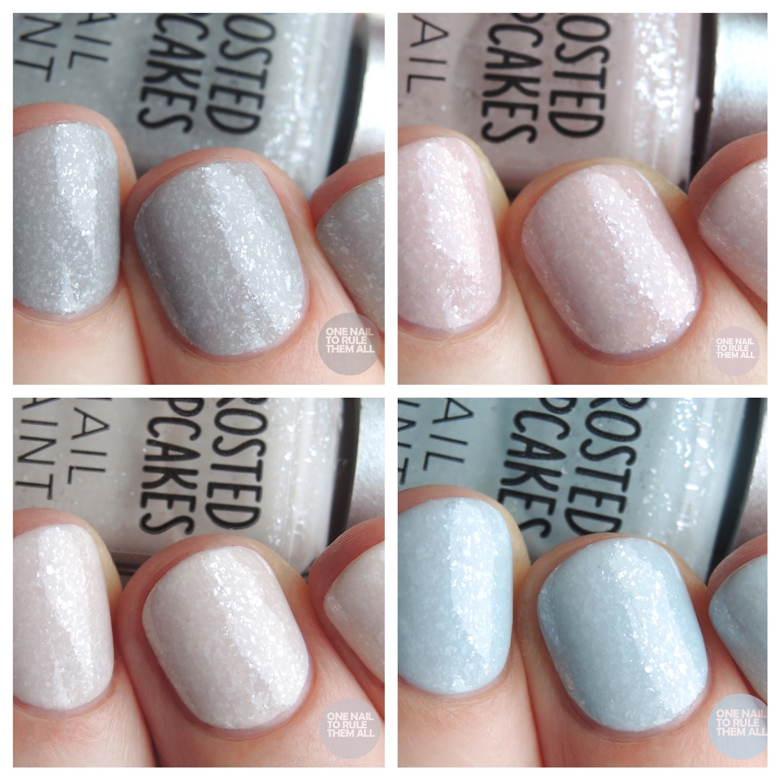 Barry M Frosted Cupcakes Collection - Review and Swatches | One Nail ...