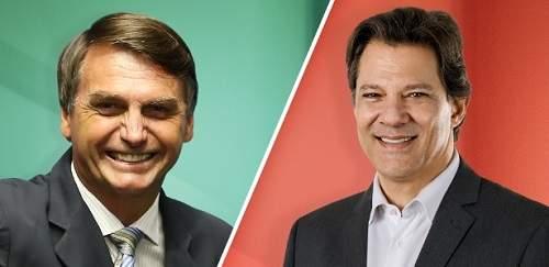 Fernando Haddad e Jair Messias Bolsonaro