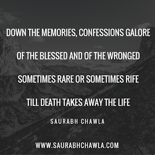 confessions galore poem by saurabh chawla