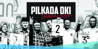 Pasangan calon Gubernur dan calon Wakil Gubernur DKI Jakarta yang pertama mengeluarkan respons atas hasil hitung cepat pilkada adalah pasangan nomor urut tiga Anies Baswedan dan Sandiaga Uno di kantor DPP Partai Gerindra