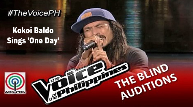 Watch Kokoi Baldo Sings 'One Day' on The Voice of the Philippines Season 2 Blind Audition