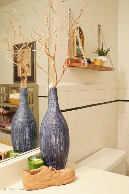 Anthropologie vase knock off; bathroom makever | House Homemade