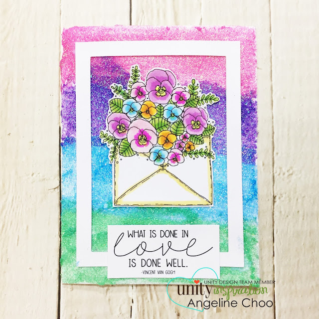 ScrappyScrappy: Nuvo Glimmer Paste Ombre Background #scrappyscrappy #unitystampco #stamp #stamping #papercraft #scrapbook #quicktipvideo #youtube #video #tdoneinlove #tonicstudios #nuvoglimmerpaste #glitterpaste #ombre