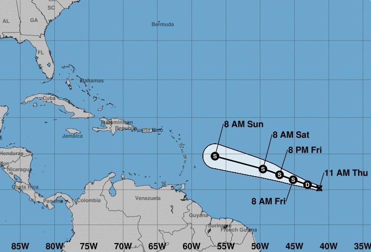 Se-forma-la-Depresión-Tropical-2-al-Este-del-Caribe