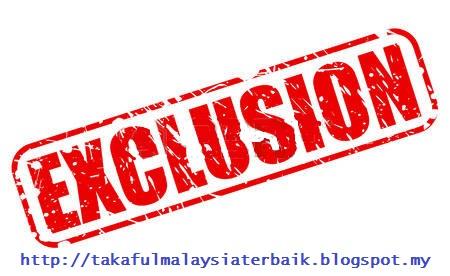 Pengecualian Insurans Takaful Malaysia