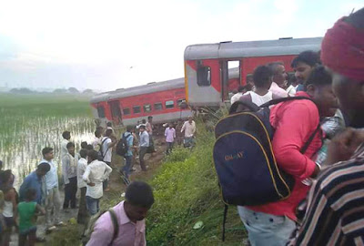 74 injured, four critically, as another train derails in UP