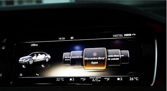 Mercedes S450 L Star 2018 sử dụng Hệ thống giải trí tiên tiến và hàng đầu của Mercedes hiện nay