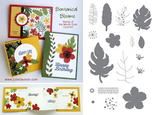Stampin' UP! Botanical Blooms Stamp of the Month Club Card Kit #stampinup 2016 Occasions Cataog www.juliedavison.com