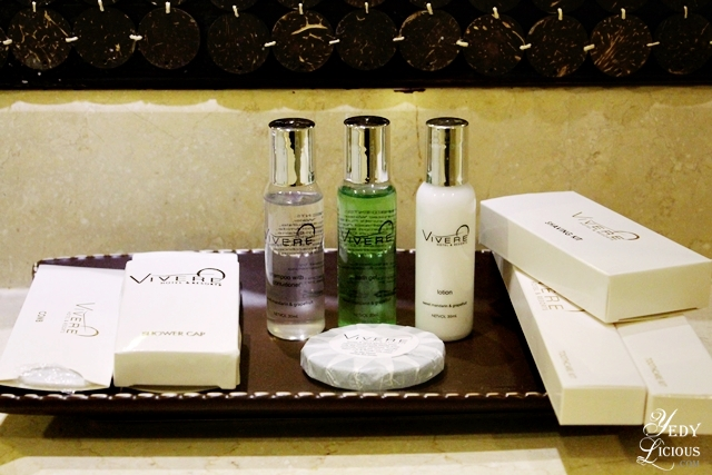 Toiletries at Vivere Hotel