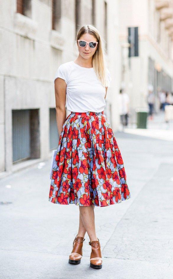 saia, saias, modelos de saias, Skirts, moda feminina, Roupas da moda, moda, comprar roupas femininas, lojas de roupas online, comprar saia, modelos de saia, saia floral