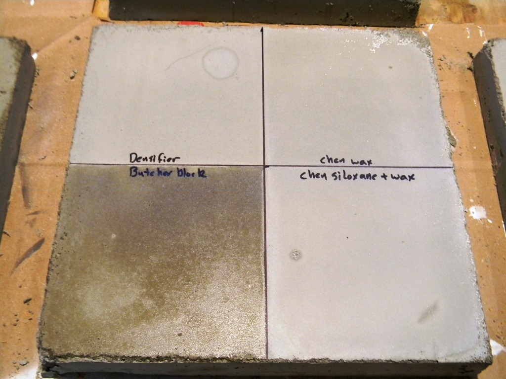 Creating Concrete Countertops The Great Sealer Showdown