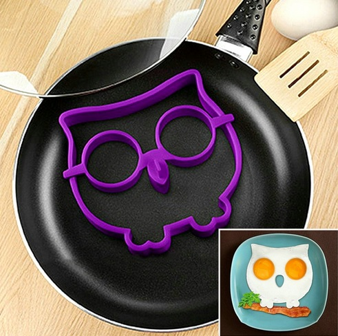 Owl Shape Egg making Mold Made of Silicone