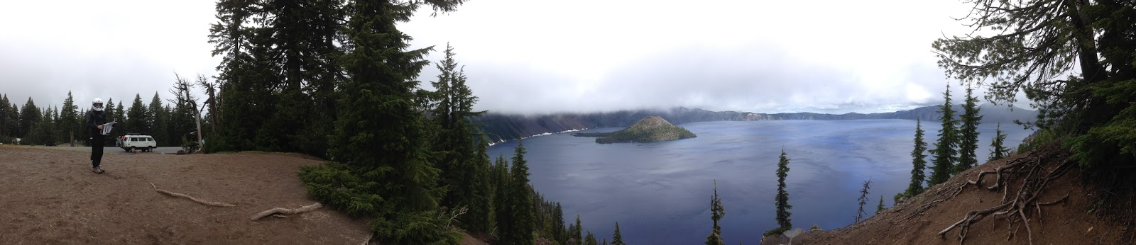 360 degree panorama Crater Lake