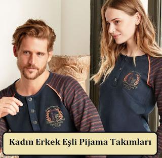 Kadın Erkek Eşli Pijama Takımları