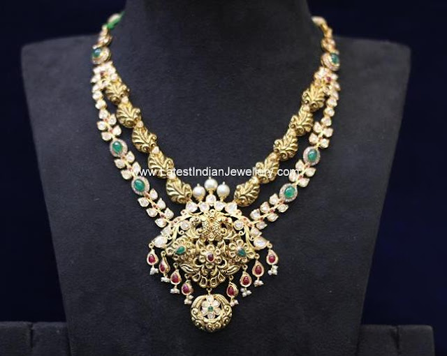 Uncut Diamond Antique Necklace