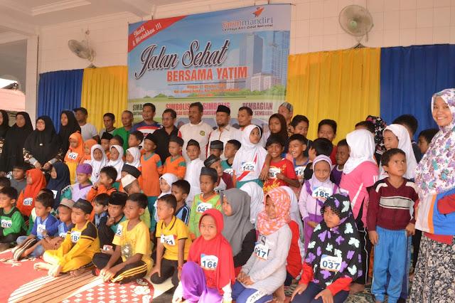 Ketua PKS Kota Medan Hadiri Acara Jalan Santai Bersama Anak-Anak Yatim