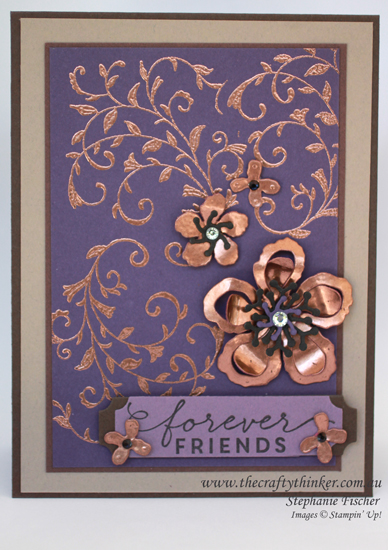 Stampin Up Australia, #thecraftythinker, First Sight, Botanical Builder, Copper, Independent Stampin Up Distributor
