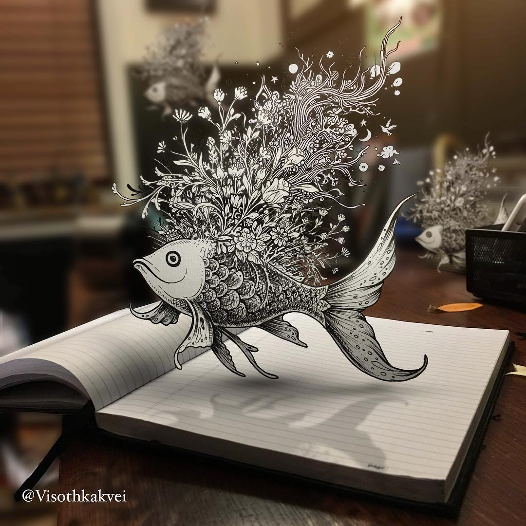 08-Fish-Floating-in-Air-Visoth-Kakvei-Intricate-Doodles-that-include-Optical-Illusions-www-designstack-co