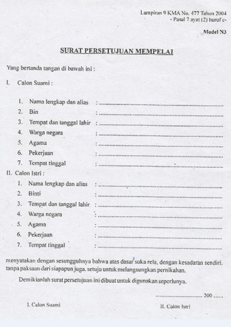 Lampiran  Surat N3