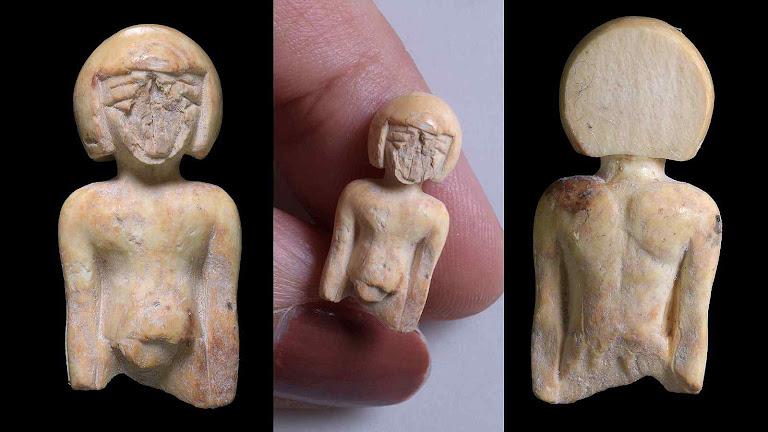Estatueta amuleto da fertilidade achado nas ruínas de Jerusalém