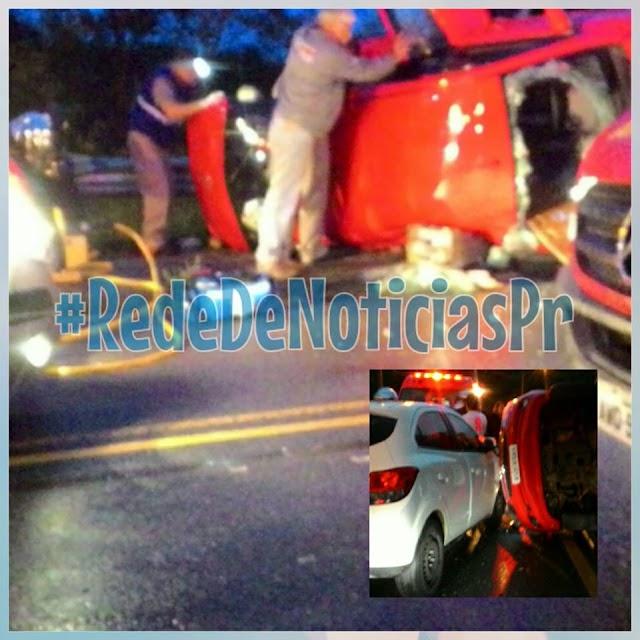 Grave acidente na Rua da Pedreira em Colombo deixa 6 feridos