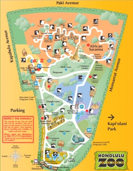 Australian Family Hawaiian Holiday Visit Honolulu Zoo For