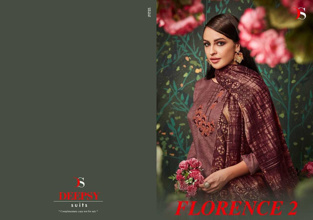 Florence 2 By Deepsy-New Arrival Cotton satin Designer Dress Material