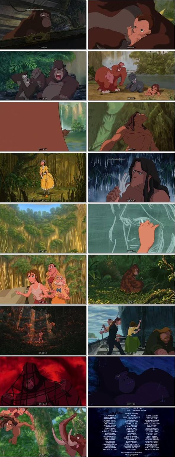 Tarzan 1999 BLuRay Hindi Dual Audio HEVC 720p ESubs