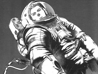 "Dibujo del cómic ""Planetes"", de Makoto Yukimura"