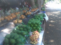 Fresh fruit at St. Lucia arts and crafts market