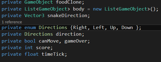 [TUTORIAL] Snake com Unity + C# Untitled-8