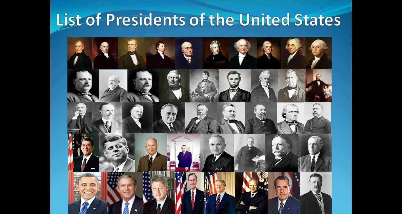 Comprehensive list of all presidents of the united states for Pictures of all presidents of the united states in order