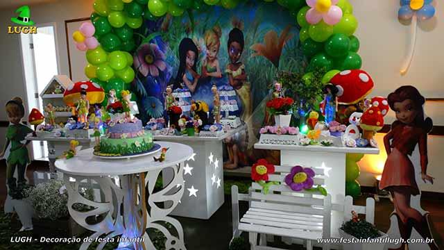 Decoração de aniversário infantil Tinker Bell - Sininho em mesa provençal