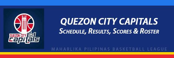 MPBL: Quezon City Capitals Schedule, Results, Scores, Roster