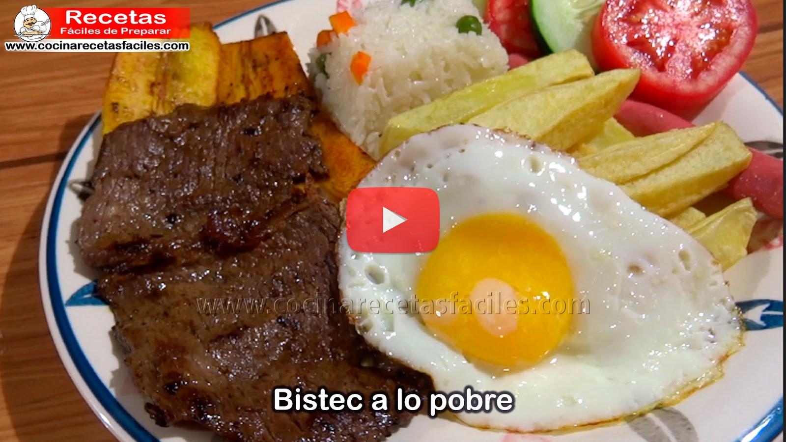 Bistec a lo Pobre Peruano   Aprende a  preparar un delicioso BISTEC A LO POBRE PERUANO de manera rápida y fácil.