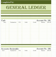General Ledger Templates in excel format (xlsx)