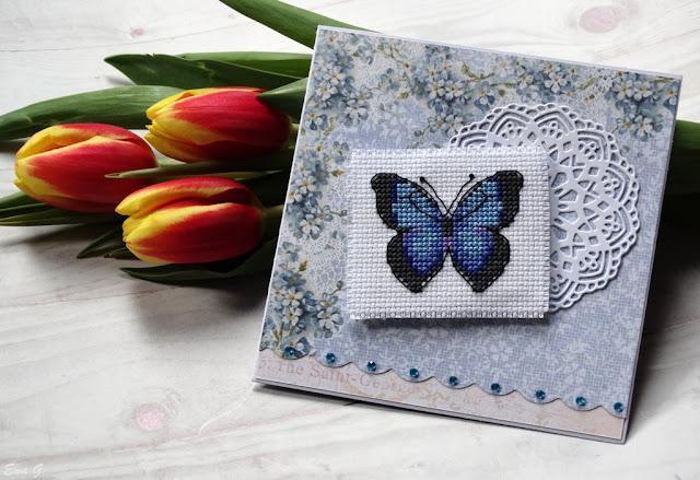 Imieniny miesiąca - kartka z motylem