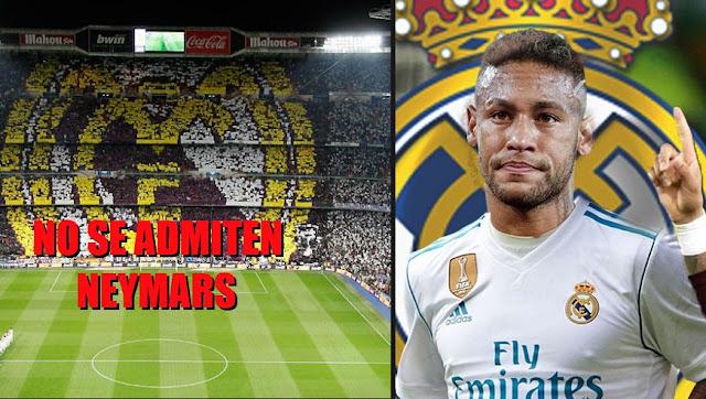 La afición del Madrid no quiere Neymar de blanco NO SE ADMITEN NEYMARS