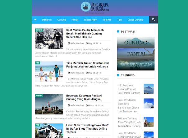 Template Blog AMP pilihan Terbaik, Gratis, SEO Friendly, Ringan, dan Bersih