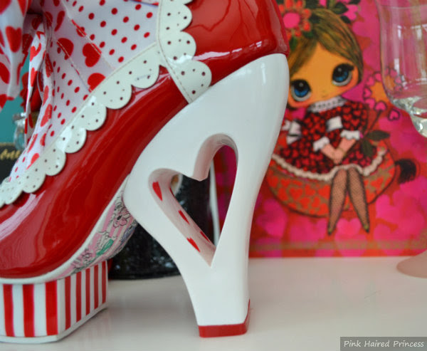 irregular choice rosie with love heart heel