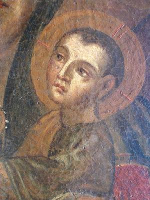 Dipinto seicentesco - maternità sacra - annunci