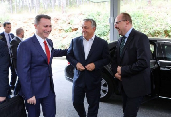 DPMNE Leader Gruevski Meeting with Orban and Jansa