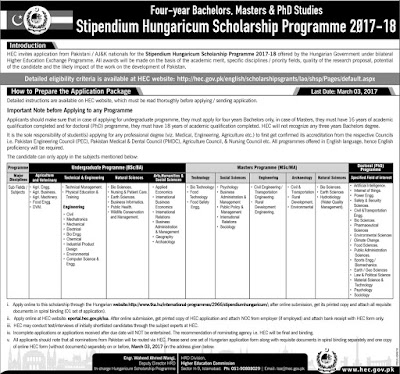 Stipendium Hungaricum Scholarship Programme 2017-2018  Stipendium Hungaricum Scholarship Programme 2017-2018 for Agricurtural and Veterinary Agri Engg, Agri Business, Agri Machinery, Food Engg. DVM, Technical and Engineering, Technical Management, Physical Education and Training, Engineering, Civil, Mechatronics, Mechnical, Electrical, Bio Engg, Chemical, Industrial Product Design, Environmental, Computer Science and Engg.