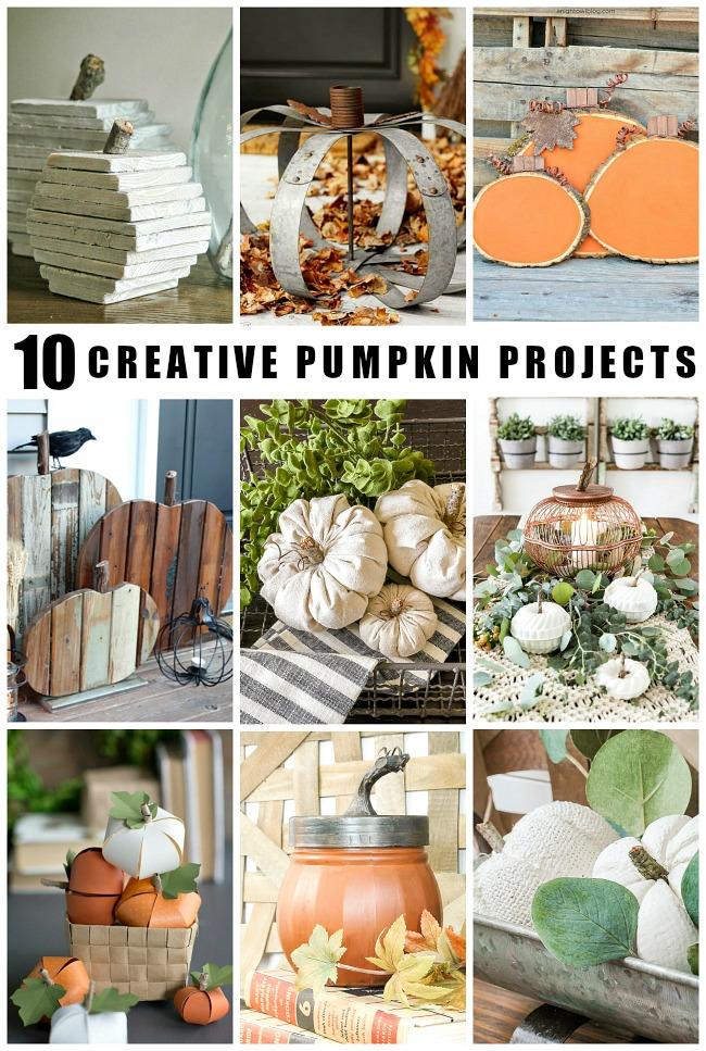 10 creative fall pumpkin projects