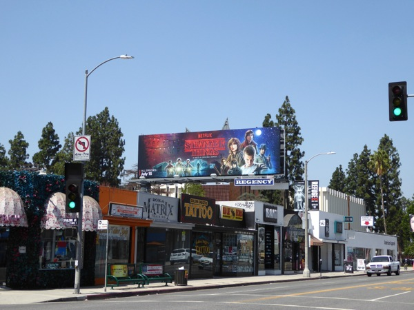 Stranger Things TV billboard